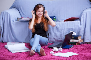 You can practice your English skills by listening to music.